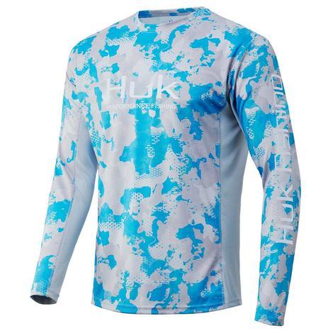 HUK Icon X KC Refraction Inshore Camo Long Sleeve Men's Shirt