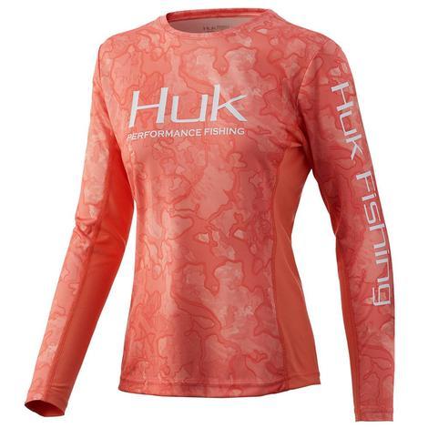 HUK Icon X Current Bimini Camo Long Sleeve Women's Shirt