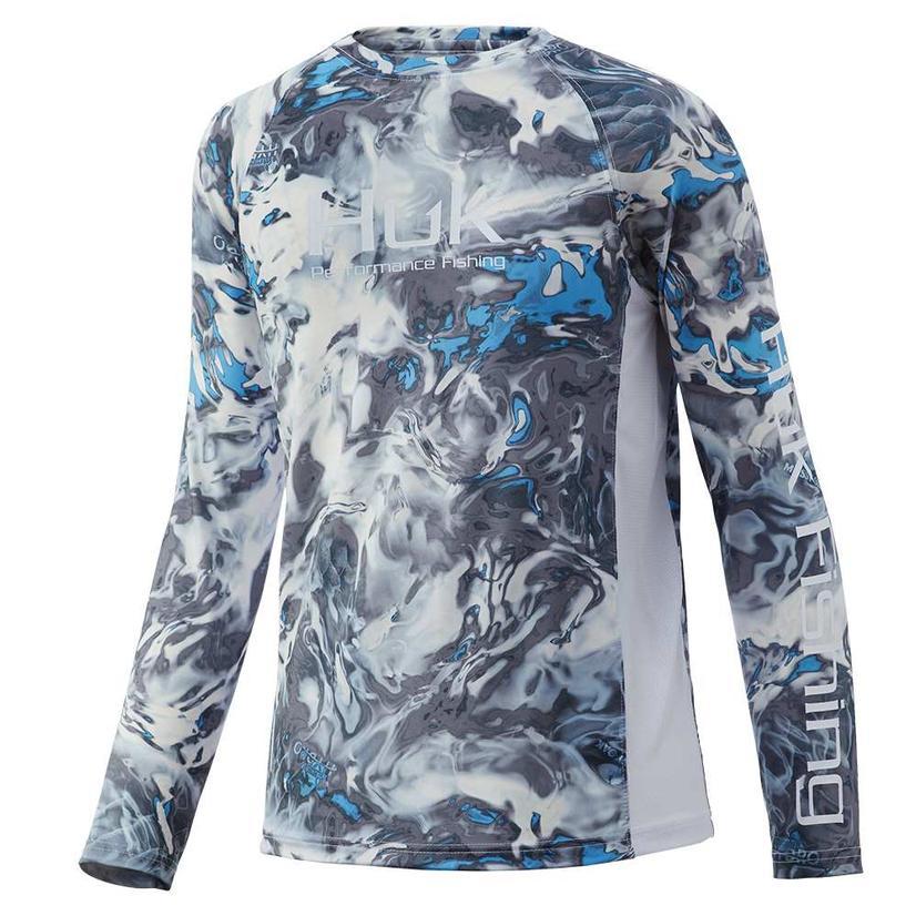 Huk Pursuit Mossy Oak Hyro Standards Long Sleeve Youth Shirt