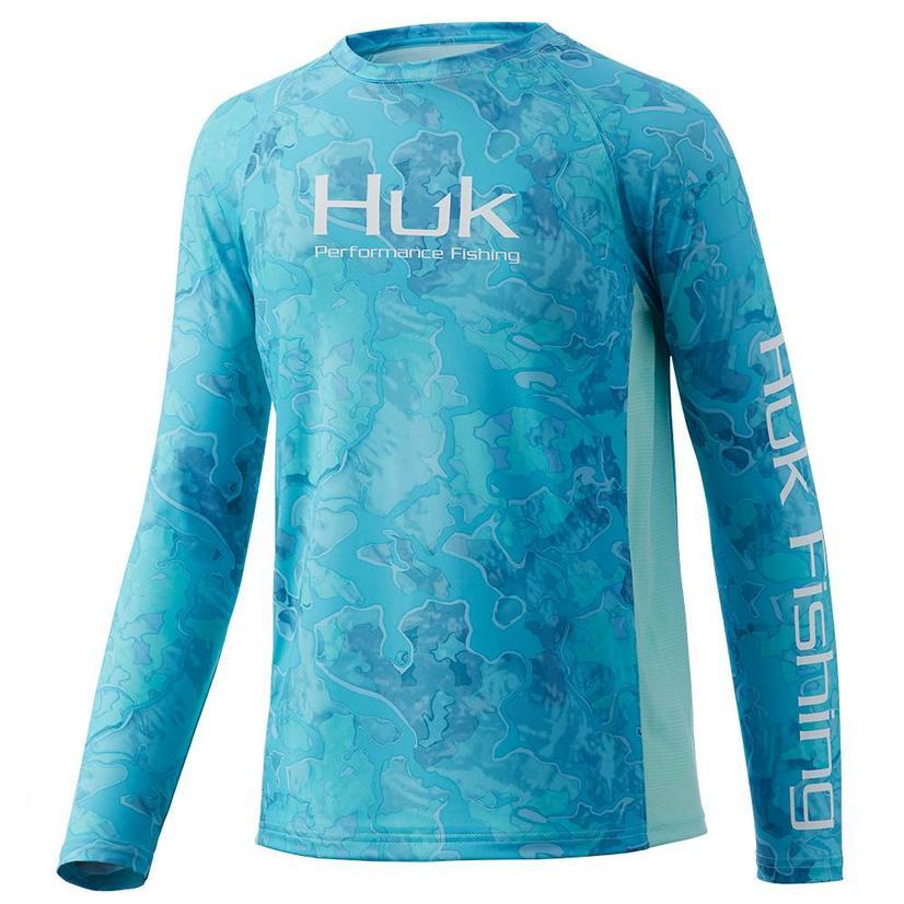 Huk Huk ' D Up Pursuit Boca Grande Long Sleeve Youth Shirt