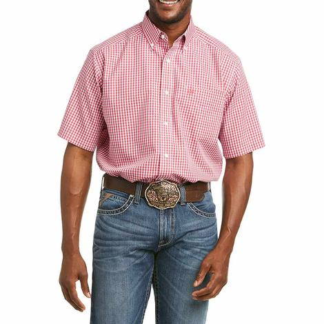 Ariat Wrinkle Free Soren Plaid Short Sleeve Buttondown Men's Shirt