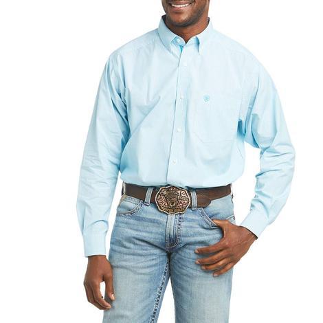 Ariat Dayne Turquoise Stripe Long Sleeve Buttondown Men's Shirt