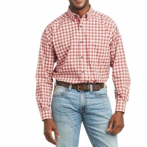 Ariat Floyd Orange Plaid Long Sleeve Buttondown Men's Shirt