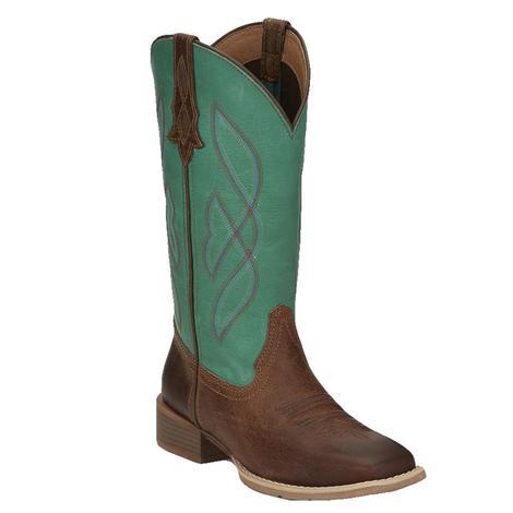 Justin Gypsy Breakaway Waxy Tan Turquoise Women's Boots