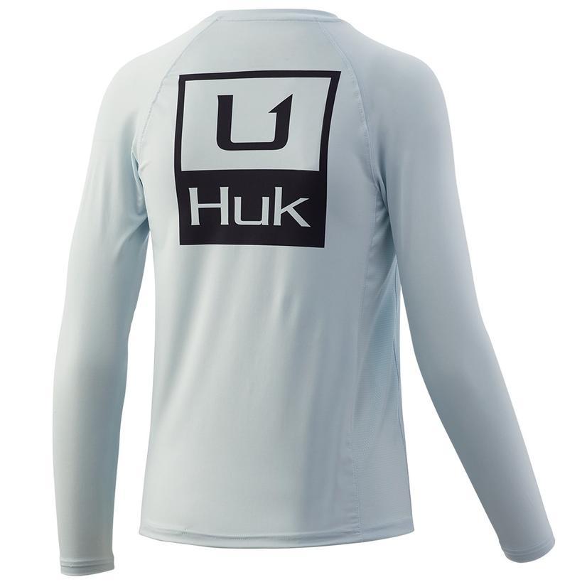 Huk Huk ' D Up Pursuit Plein Air Youth Boy's Longsleeve Shirt