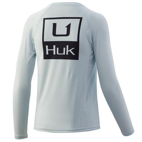 HUK Huk'd Up Pursuit Plein Air Youth Boy's Longsleeve Shirt