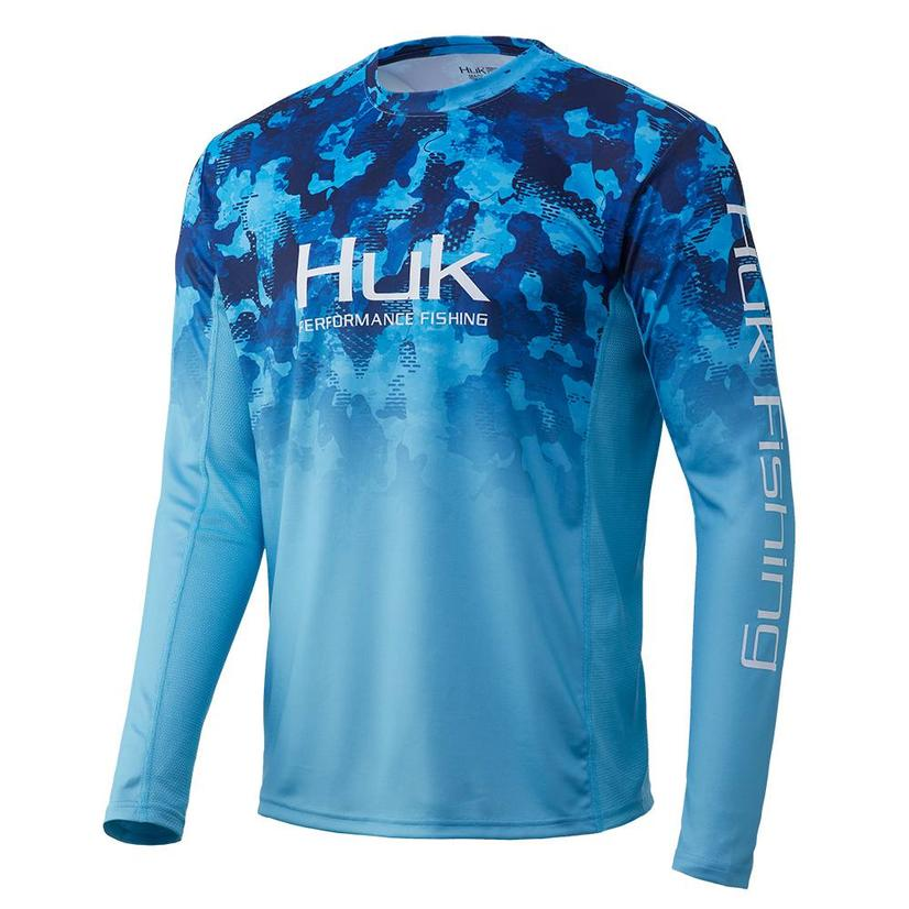 Huk Icon X Kc Refraction San Sal Camo Fade Long Sleeve Men's Shirt