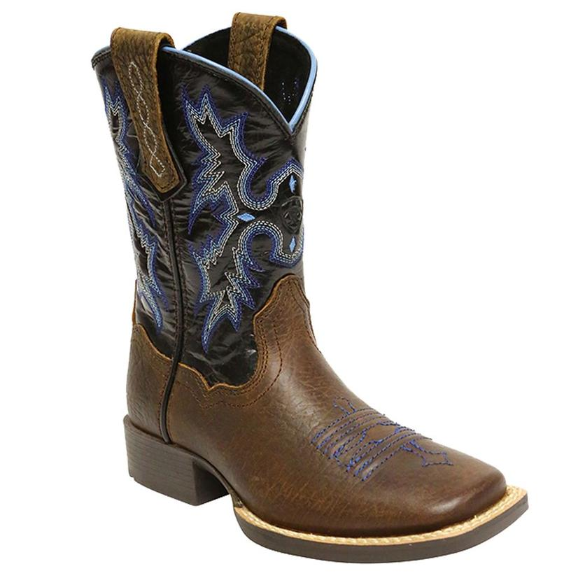Ariat Kids' Lightning Blue Tombstone Cowboy Boots