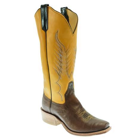 Rios of Mercedes Canela Navajo Bison Yellow Top Men's Boots