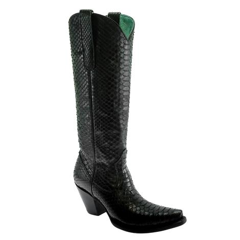 Corral Black Python Full Exotic Tall Top Women's Boots