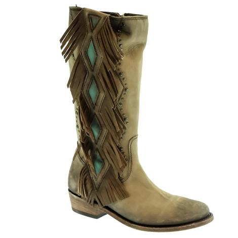 Liberty Black Nubuck Grease Taupe Women's Boots