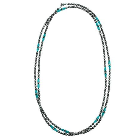 Navajo Pearl and Turquoise 60inch Necklace