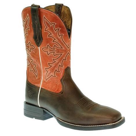 Ariat Qualifier Orange Brown Men's Boots