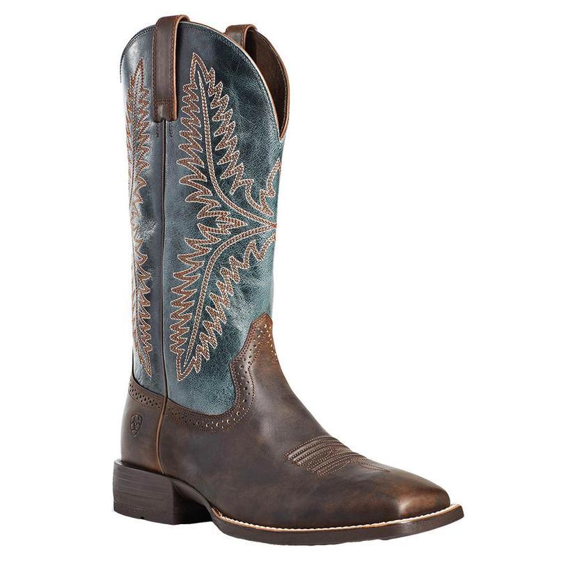 Ariat Caprock Tan Blue Men's Boots