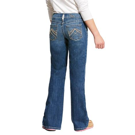 Ariat REAL Eleanor Whipstitch Boot Cut Girl's Jeans