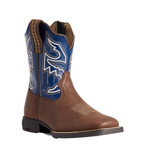 Ariat Sorting Pen Easy Fit Blue Top Boy's Little Kid Boots