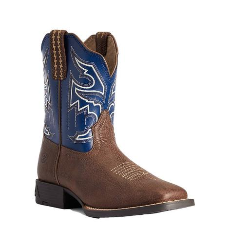 Ariat Sorting Pen Blue Top Boy's Kid and Youth Boots