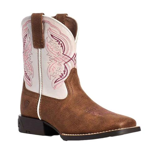 Ariat Double Kicker Pink Girl's Kid and Youth Boots