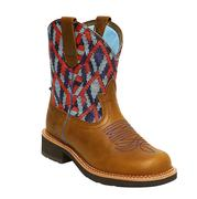 Ariat Fatbaby Vivid Heritage Blue Red Turq Bead Boots