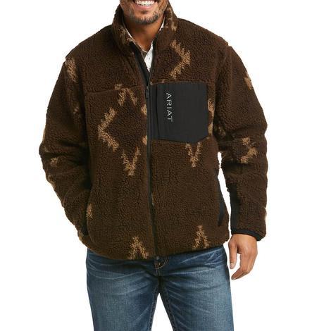 Ariat Mammoth Aztec Print Sherpa Men's Sweater