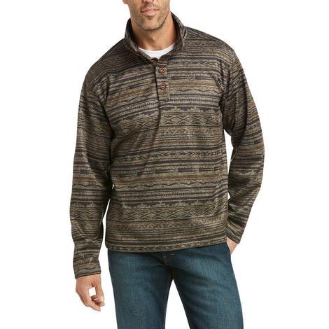 Ariat Wesley Tan Serape Print Fleece Men's Sweater