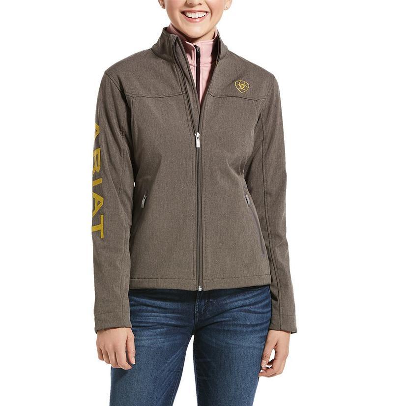 Ariat New Team Softshell Bark And Leopard Women's Jacket
