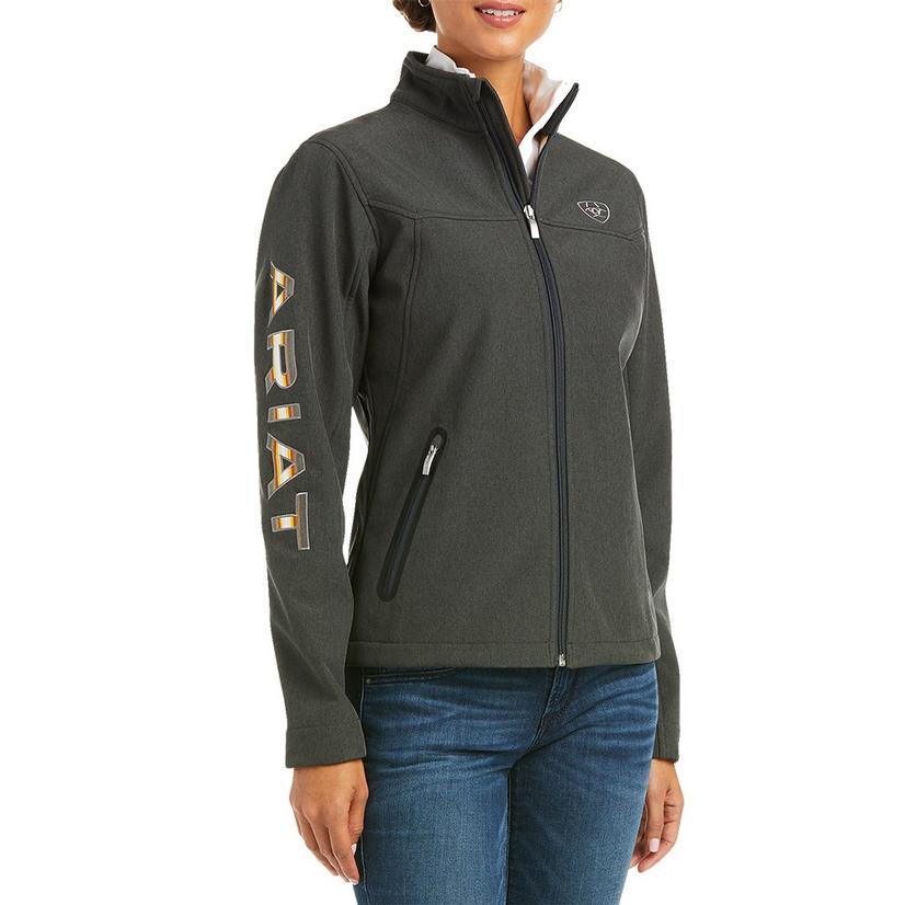 Ariat Pendleton Team Charcoal Softshell Women's Zip Jacket
