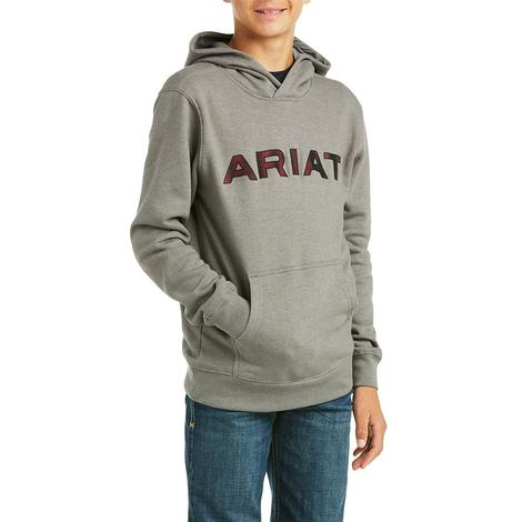 Ariat Basic Charcoal Boy's Pullover Hoodie