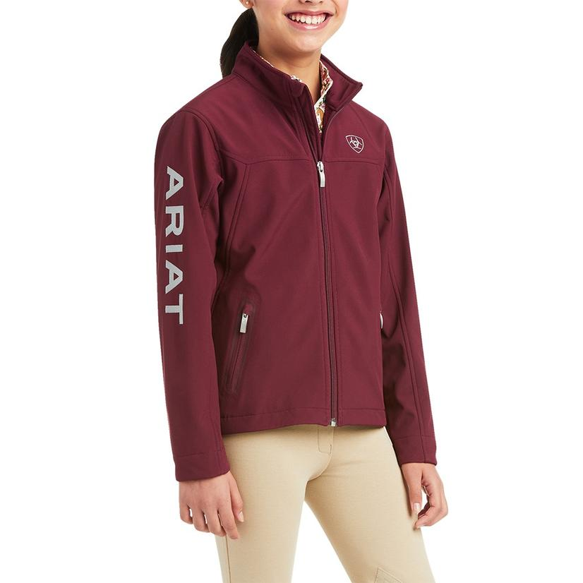 Ariat New Team Softshell Maroon Girl's Jacket