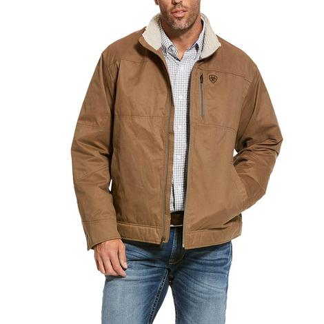 Ariat Tan Grizzly Canvas Sherpa Lined Men's Jacket