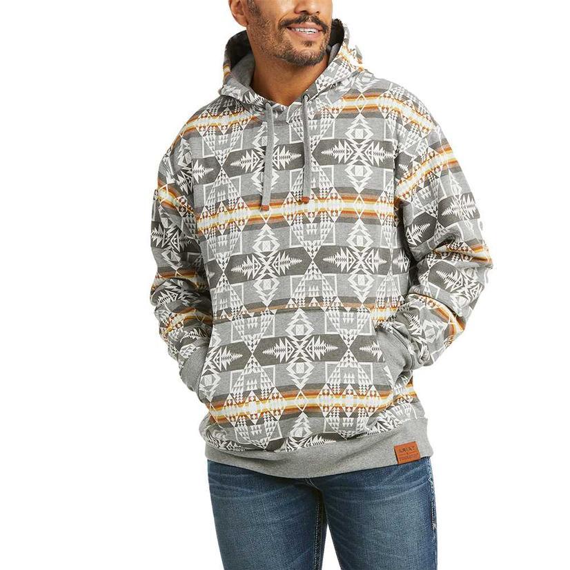 Ariat Pendleton Grey Aztec Print Men's Pullover