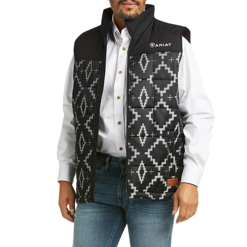 Ariat Pendleton Insulated Black Aztec Print Men's Vest