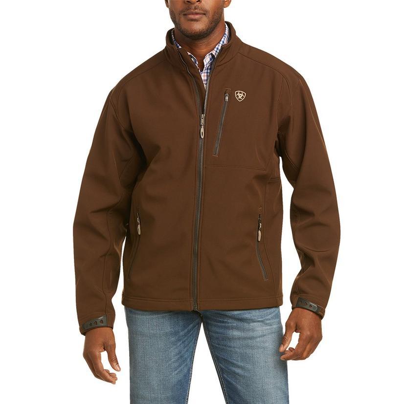 Ariat Logo Softshell Brown Tan Men's Jacket