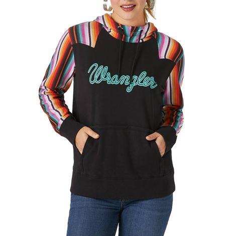 Wrangler Black Serape Print Women's Pullover Hoodie