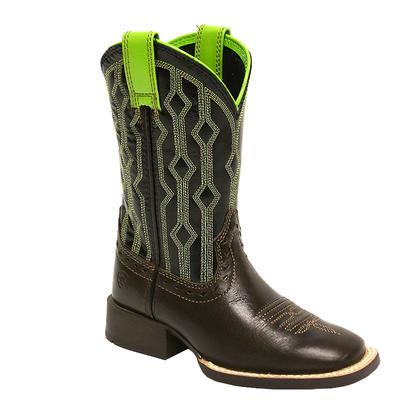 Ariat Livewire Chocolate Black Neon Lime Kid Boot