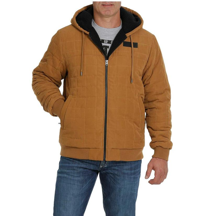 Cinch Brown Suede Quilted Sherpa Lined Men's Jacket