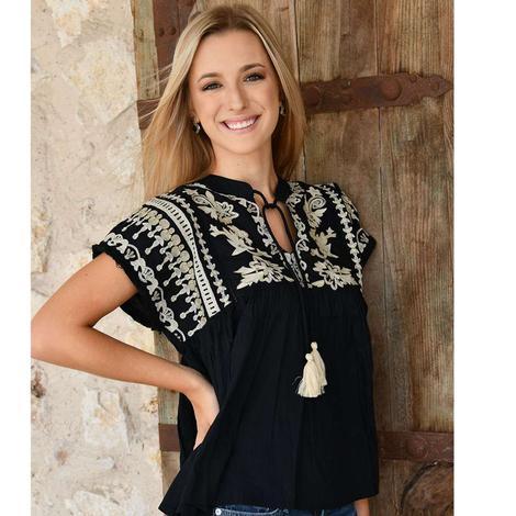 Ladies Black THML blouse