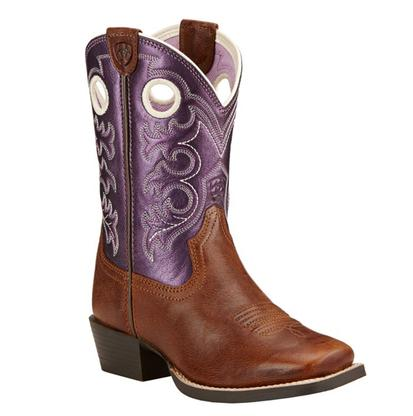 Ariat Crossfire Sparklin Purple Kid Boot