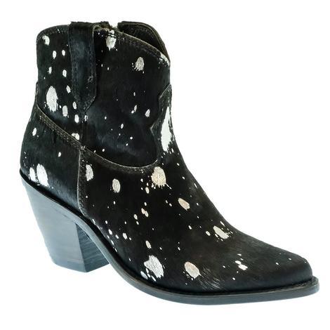 Liberty Black Ruanda Black and Silver Women's Shorty Boots