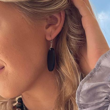 Black Slab Earrings