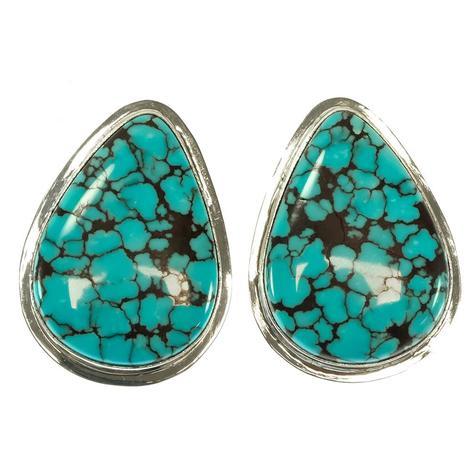 Oversized Turquoise Stud Earrings