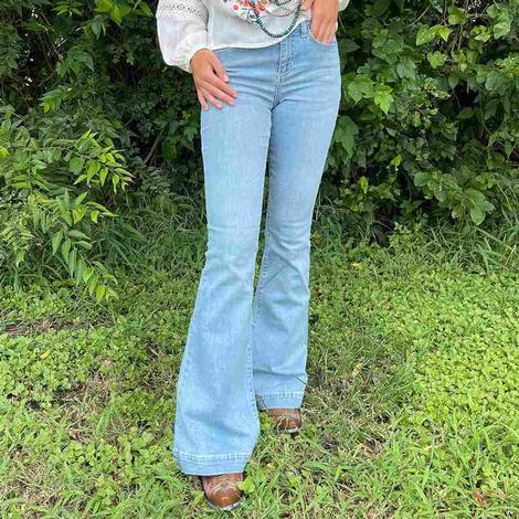 Ladies Sneak Peek Flare Jeans