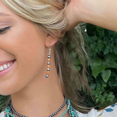 Oyster Navajo Pearl Earrings