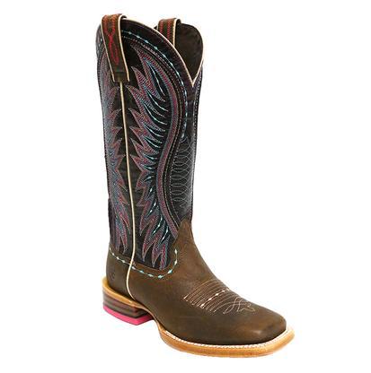Ariat Vaquera Khaki Sunset Purple Brown Ladies Boot