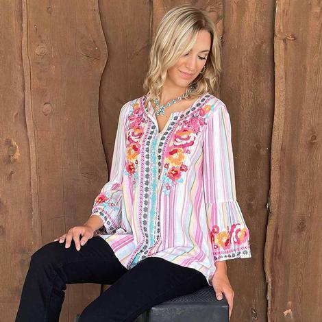 Savanna Jane Plus Pink Stripe Shirt