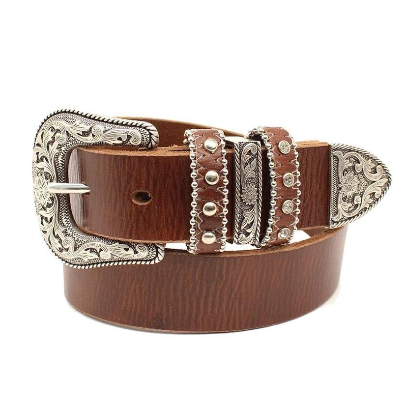 Nocona Brown Leather Girl's Belt