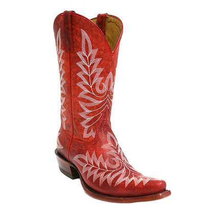 Ariat Brooklyn Revel Red Ladies Snip Toe Boot