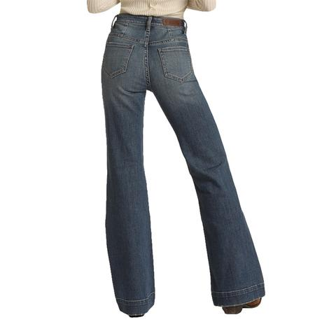 Rock and Roll Cowgirl High Rise Twill Denim Women's Trousers