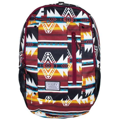 Hooey Rockstar Burgundy Aztec Print Backpack