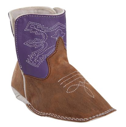 Anderson Bean Purple Baby Beans Square Toe Boots
